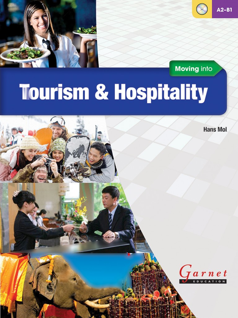 Moving into Tourism & Hospitality Course Book cover.